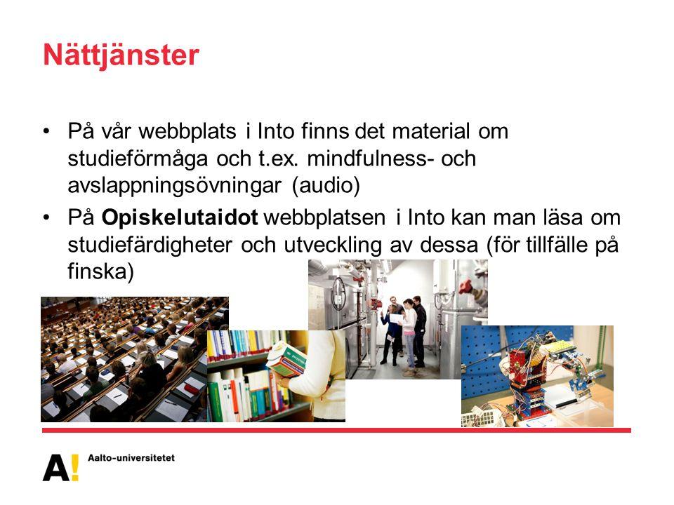 Nättjänster På vår webbplats i Into finns det material om studieförmåga och t.ex.