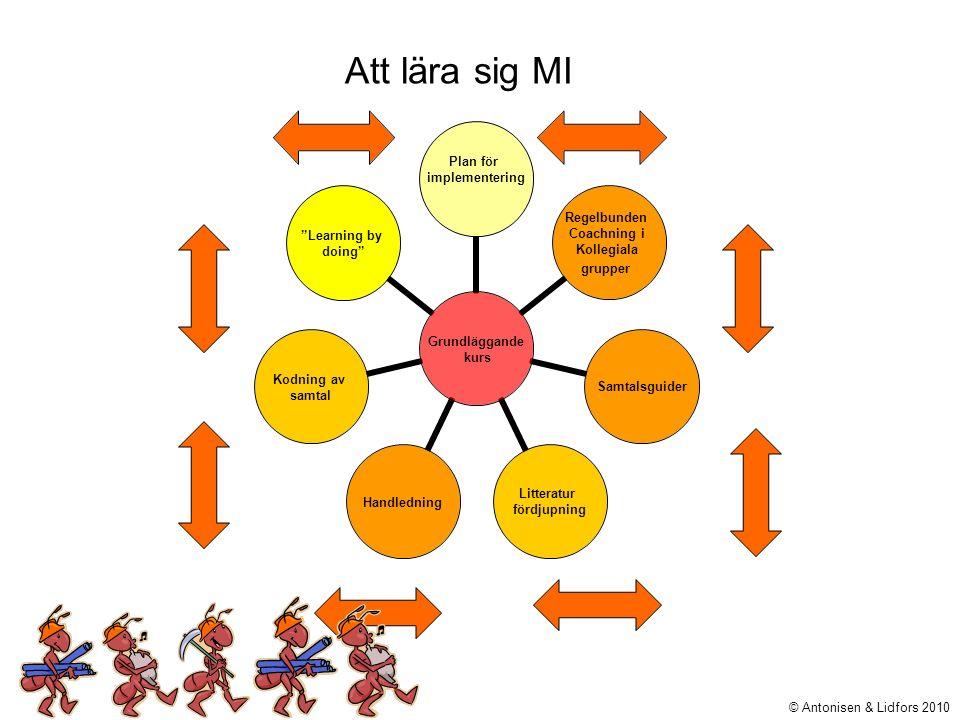 Att lära sig MI © Antonisen & Lidfors 2010