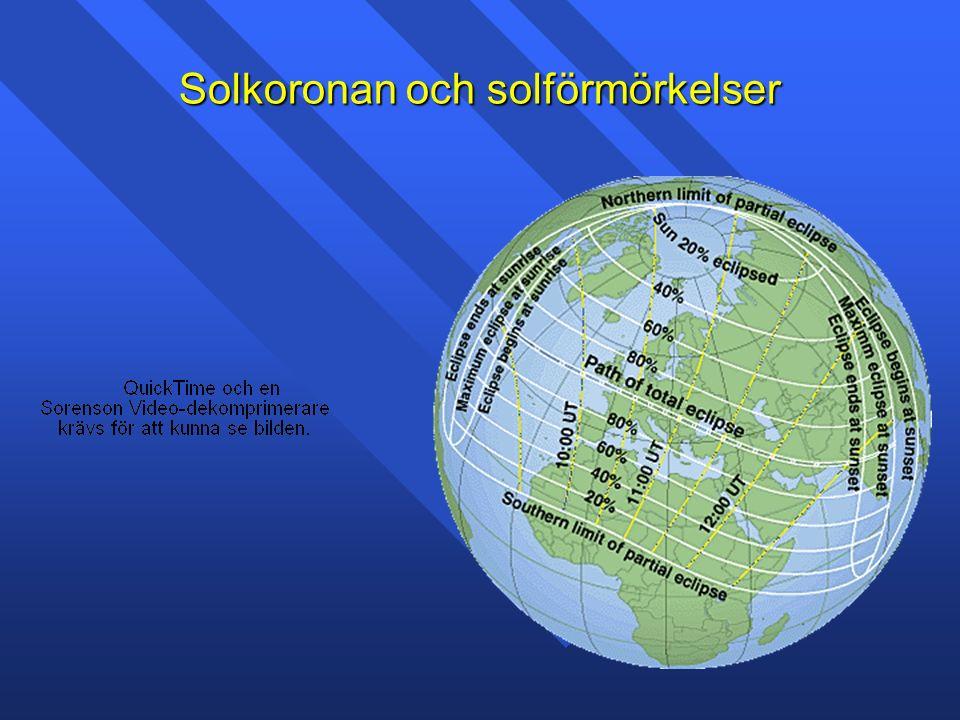 Solvinden Typiska värden V: 450km/s N: 5partiklar/cm 3 T: 10 5 K B: 5nT Solvinden består av protoner, elektroner och 3-4% alfa partiklar