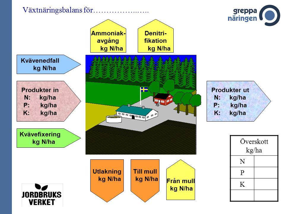 Växtnäringsbalans för……………..…..