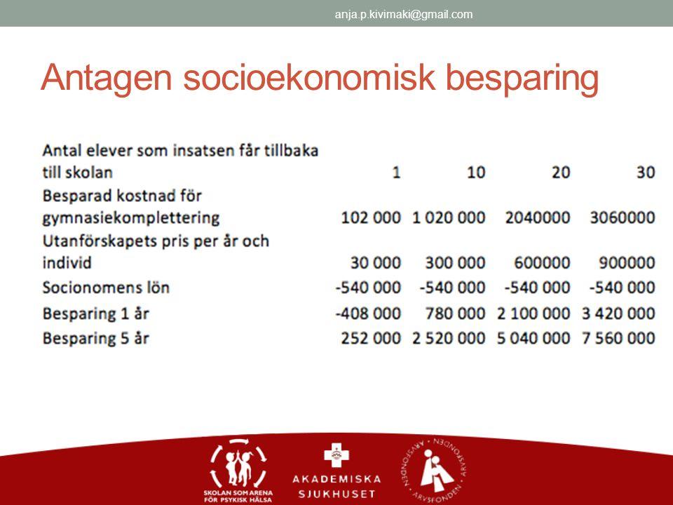 Antagen socioekonomisk besparing anja.p.kivimaki@gmail.com