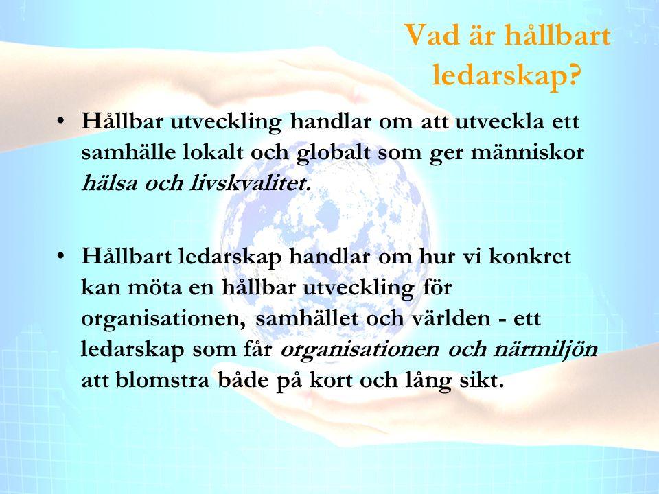 Enköpingshälsan AB Vad är hållbart ledarskap.