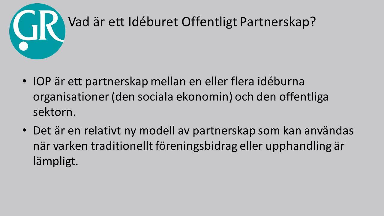 Vad är ett Idéburet Offentligt Partnerskap.