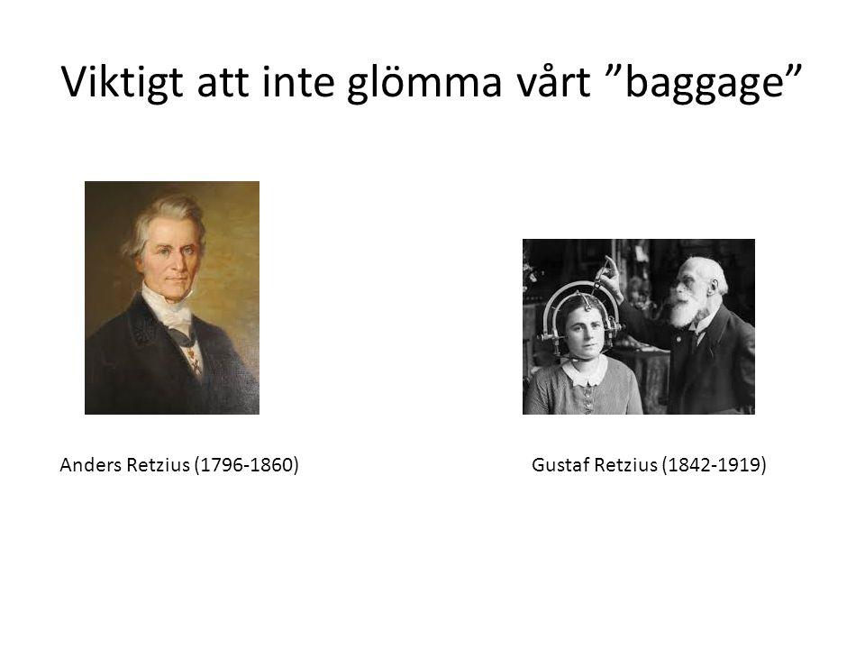Viktigt att inte glömma vårt baggage Anders Retzius (1796-1860)Gustaf Retzius (1842-1919)