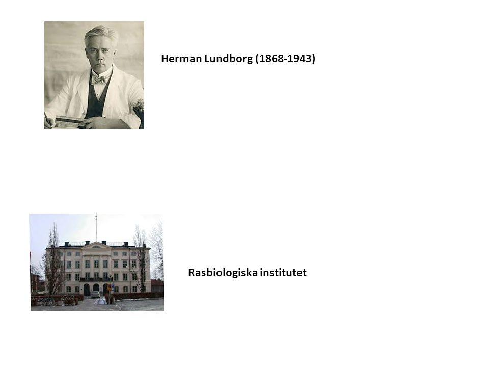 Herman Lundborg (1868-1943) Rasbiologiska institutet
