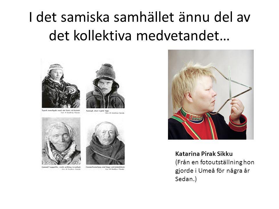 I det samiska samhället ännu del av det kollektiva medvetandet… Katarina Pirak Sikku (Från en fotoutställning hon gjorde i Umeå för några år Sedan.)