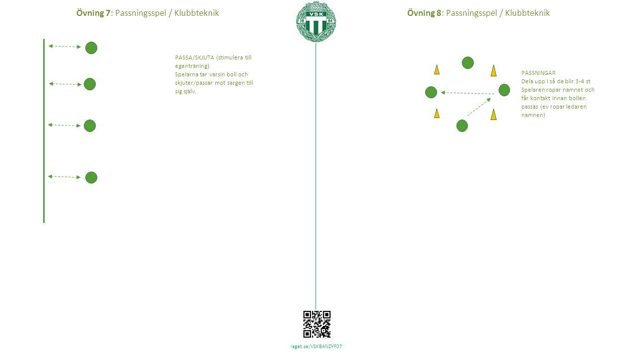 laget.se/VSKBANDYF07 Tips: Bygga 7 mannaplan snabbt och enkelt vid träning Flytta in sarg Tips: Placering av övningar Övning x Övning z Övning y Övningarna (och dess nummer) är hämtad från Övningsbank - ispass VSK F07.pptx http://www.laget.se/VSKBANDYF07/Document/Download/899197/5606428
