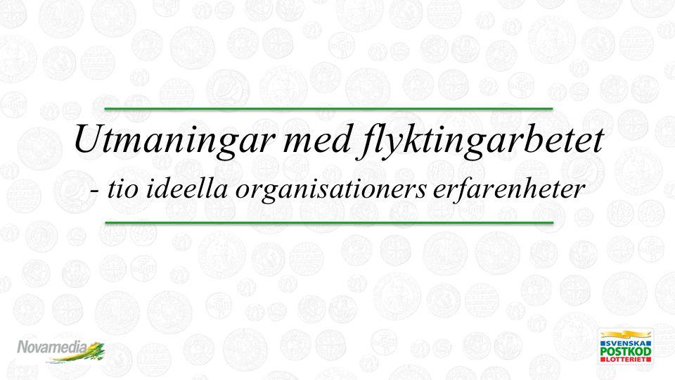 Utmaningar med flyktingarbetet - tio ideella organisationers erfarenheter