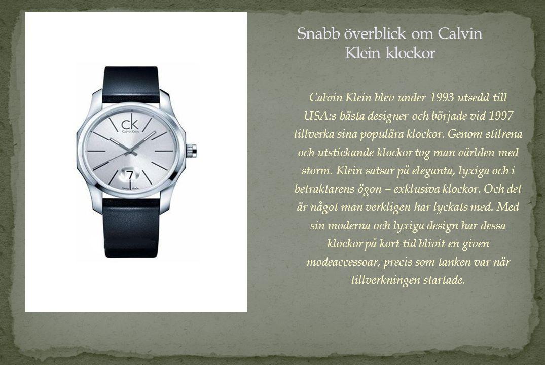 Bulova klockor började tillverkas redan 1875 av Joseph Bulova.
