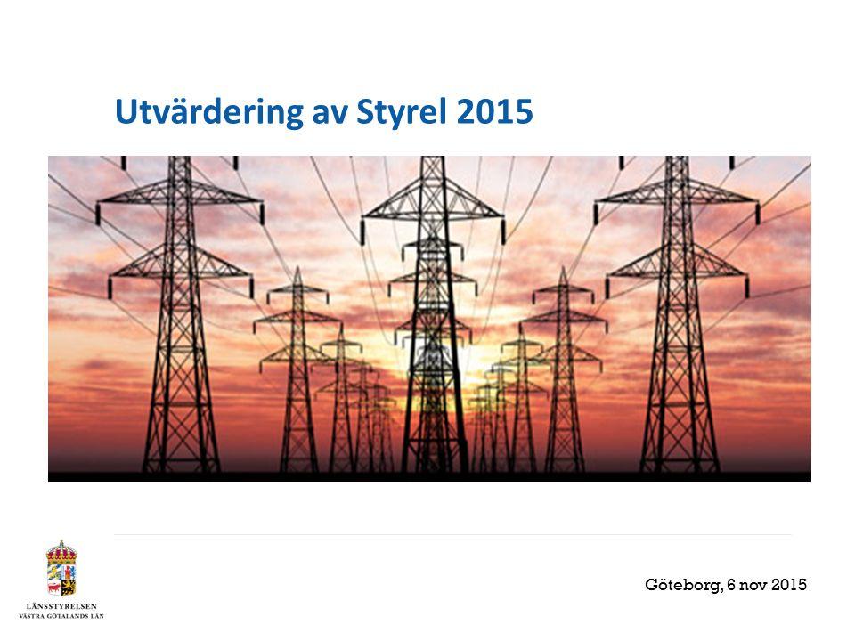 Utvärdering av Styrel 2015 Göteborg, 6 nov 2015