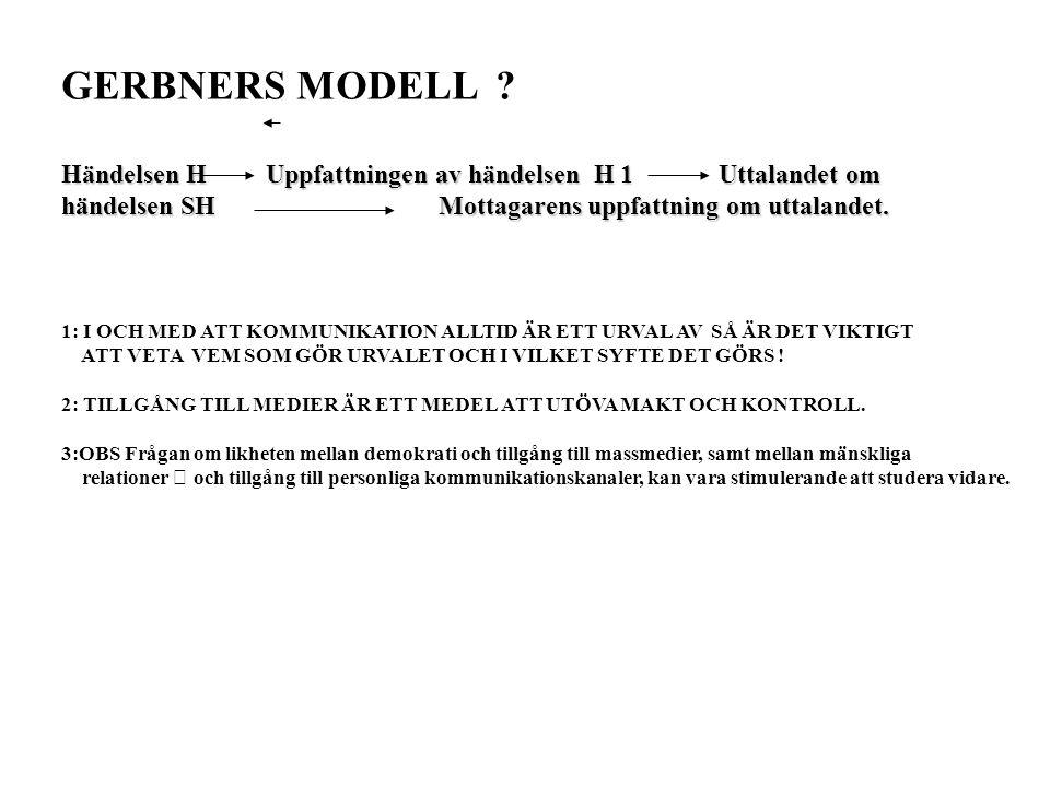 GERBNERS MODELL .