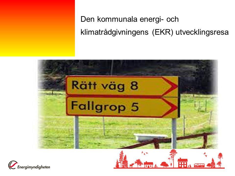 Den kommunala energi- och klimatrådgivningens (EKR) utvecklingsresa