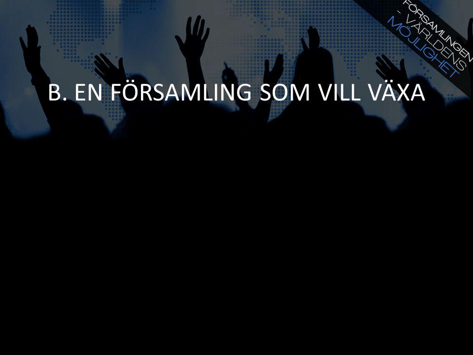 B. EN FÖRSAMLING SOM VILL VÄXA