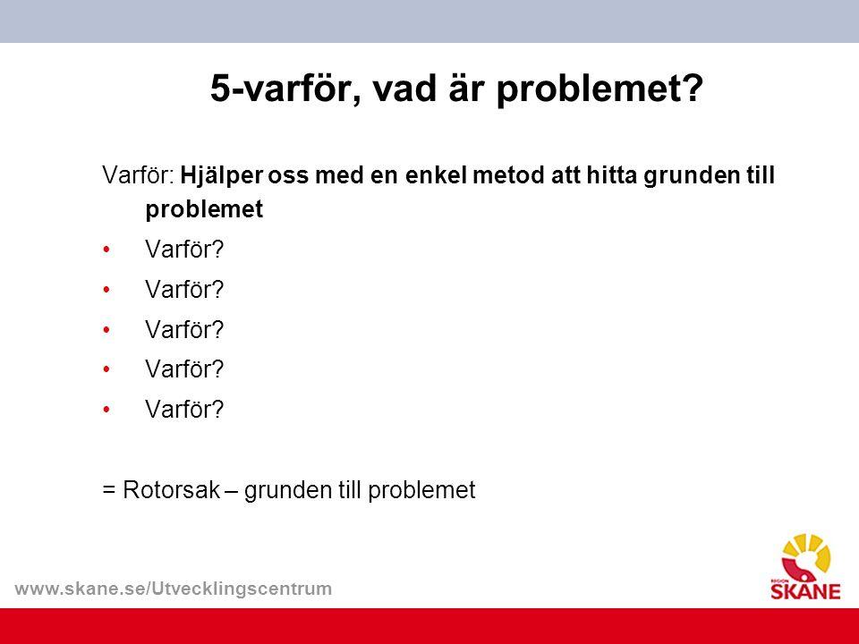 www.skane.se/Utvecklingscentrum 5-varför, vad är problemet.