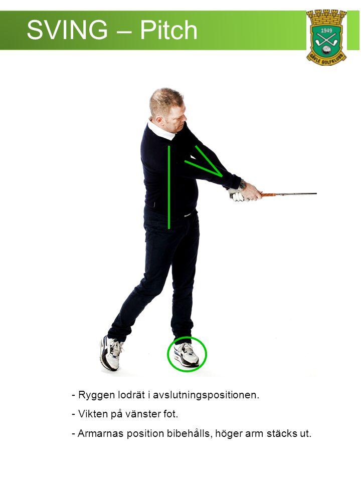 SVING – Pitch - Ryggen lodrät i avslutningspositionen.