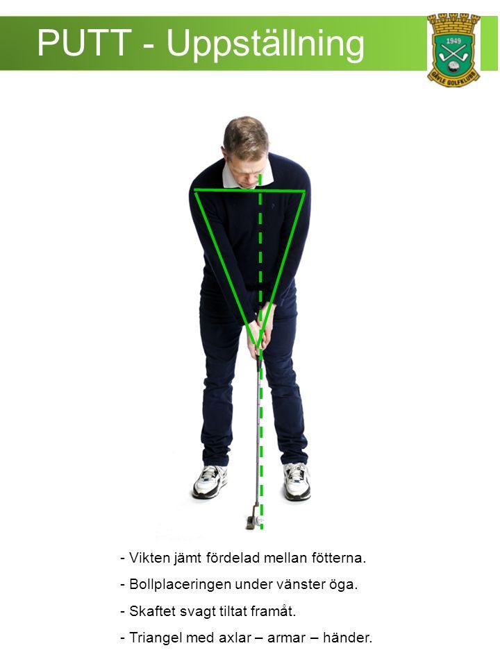 PUTT - Uppställning - Vikten jämt fördelad mellan fötterna.