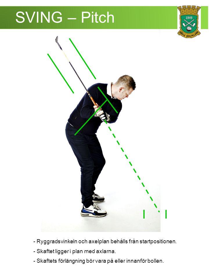 SVING – Pitch - Vikten lika fördelad på båda fötterna.
