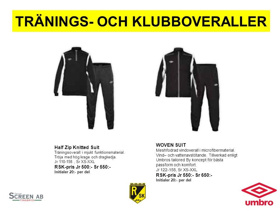TRÄNINGS- OCH KLUBBOVERALLER Half Zip Knitted Suit Träningsoverall i mjukt funktionsmaterial.