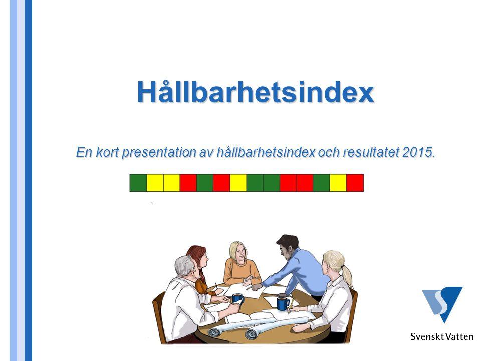 Hållbarhetsindex En kort presentation av hållbarhetsindex och resultatet 2015.