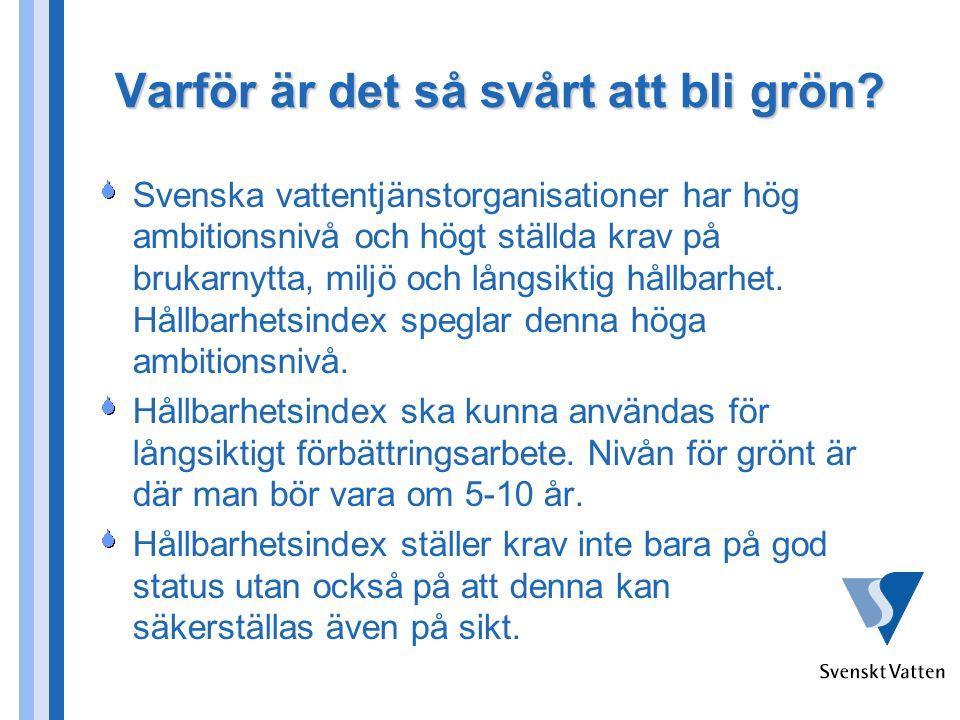Varför är det så svårt att bli grön? Svenska vattentjänstorganisationer har hög ambitionsnivå och högt ställda krav på brukarnytta, miljö och långsikt