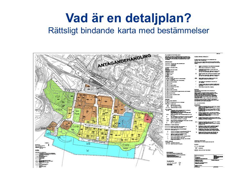 Vad är en detaljplan? Rättsligt bindande karta med bestämmelser