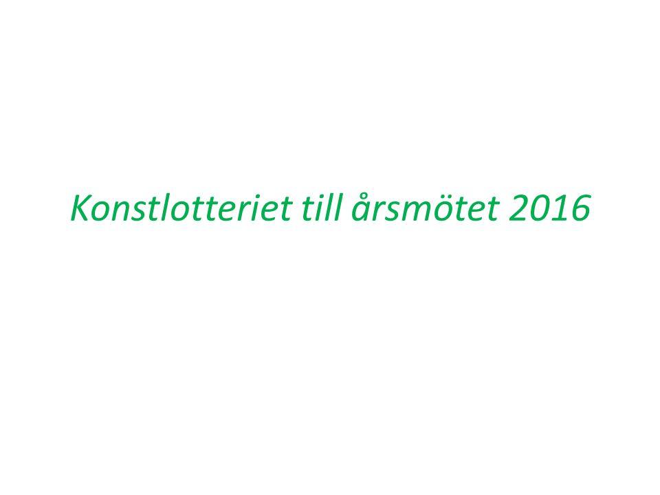 Konstlotteriet till årsmötet 2016