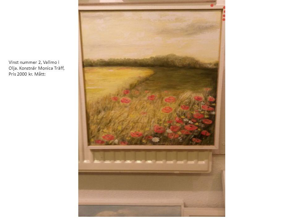 Vinst nummer 3, solförmörkelse i Akvarell. Konstnär Siiri Bååth, pris 900 kr. Mått: