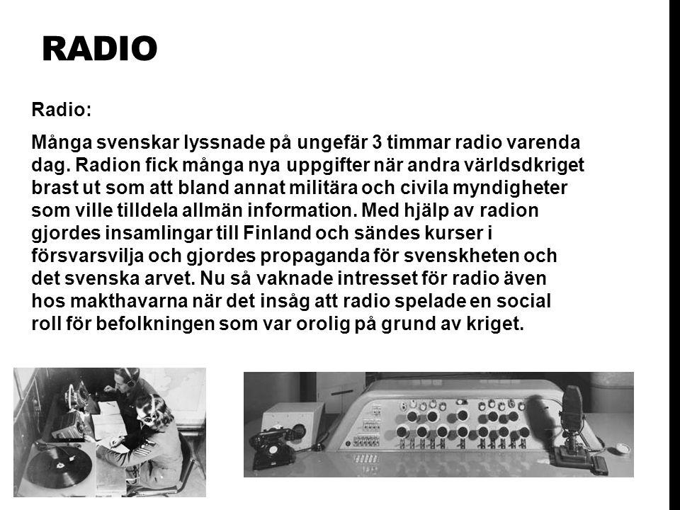 RADIO Radio: Många svenskar lyssnade på ungefär 3 timmar radio varenda dag.