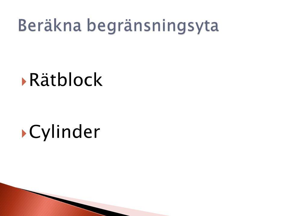  Rätblock  Cylinder