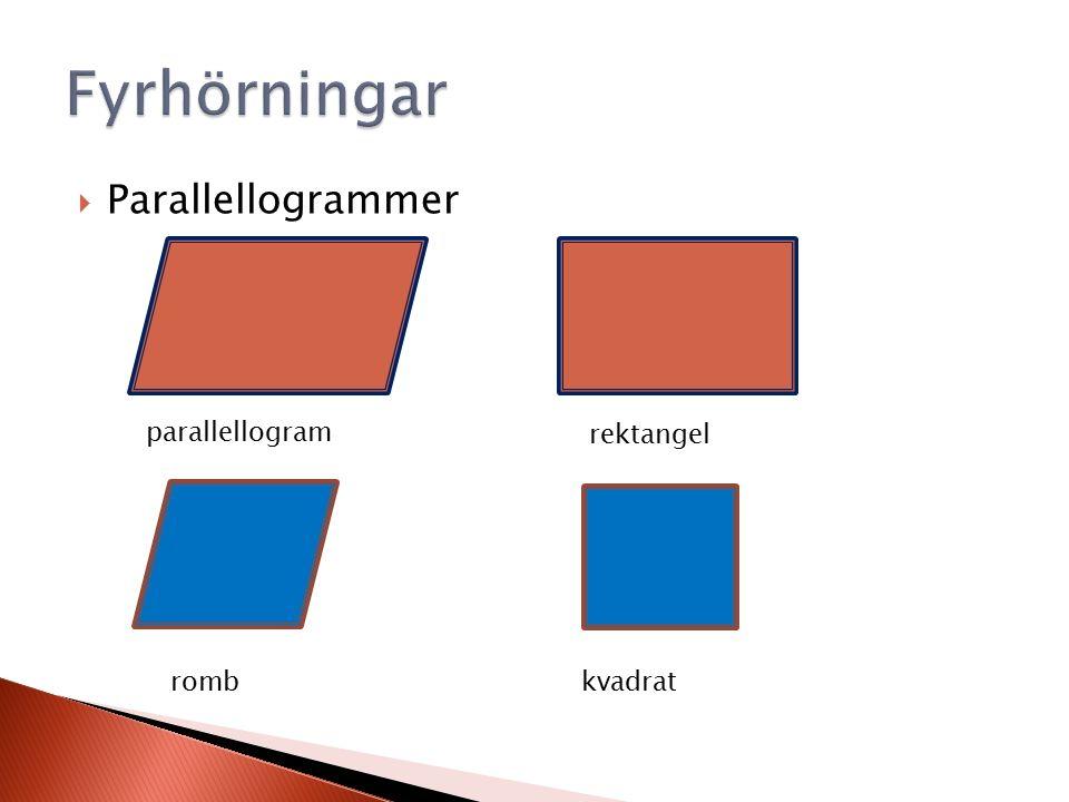  Parallellogrammer rektangel kvadrat romb parallellogram