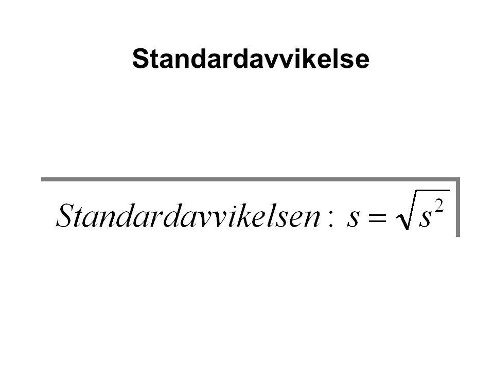 Standardavvikelse