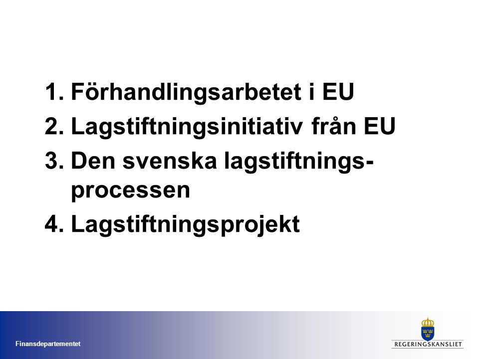 Finansdepartementet Finansminister Anders Borg Tre stats- sekreterare Budgetavd.