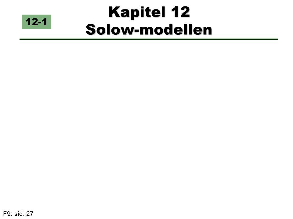 F9: sid. 27 Kapitel 12 Solow-modellen 12-1
