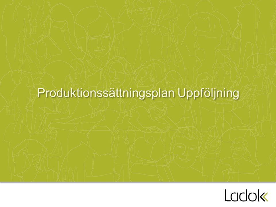 Produktionssättningsplan Uppföljning