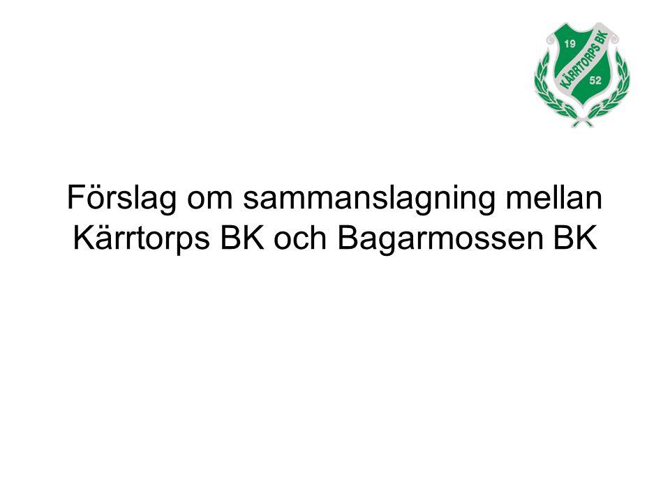 Förslag om sammanslagning mellan Kärrtorps BK och Bagarmossen BK