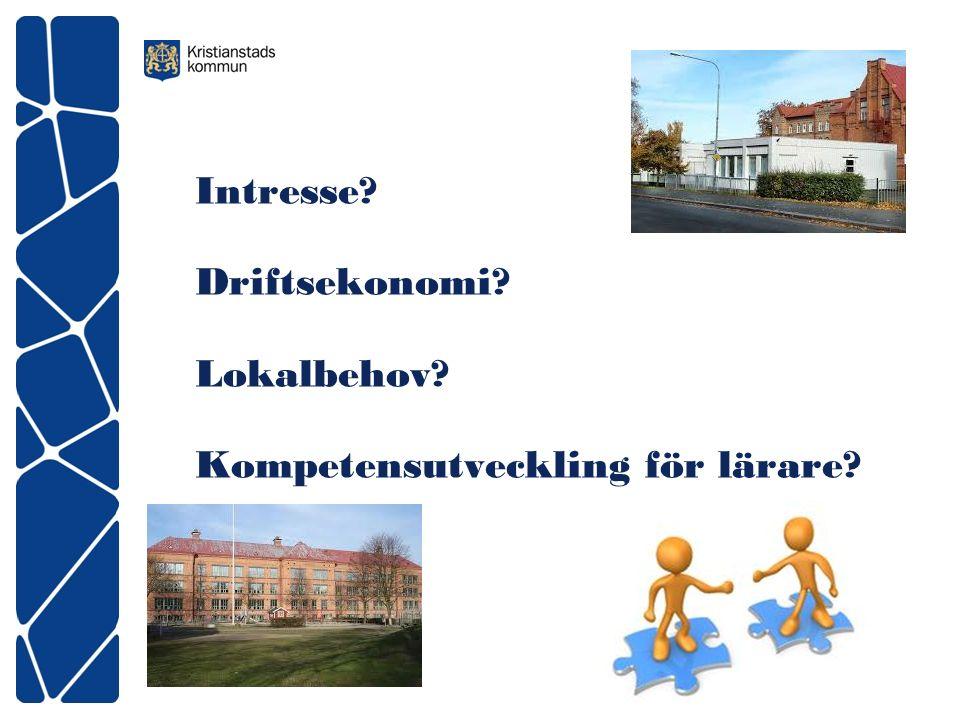 Intresse Driftsekonomi Lokalbehov Kompetensutveckling för lärare