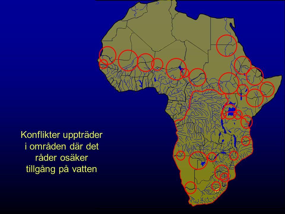 Konflikter uppträder i områden där det råder osäker tillgång på vatten