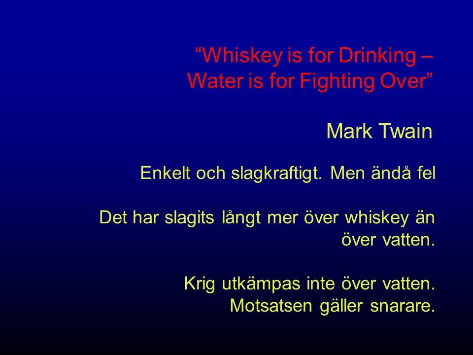 Det är ont om vatten i världen sägs det.Vad betyder det.