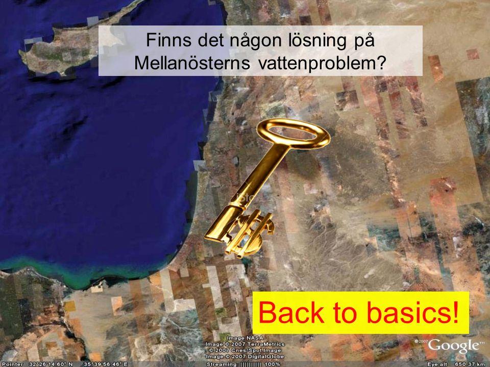 Finns det någon lösning på Mellanösterns vattenproblem Back to basics!