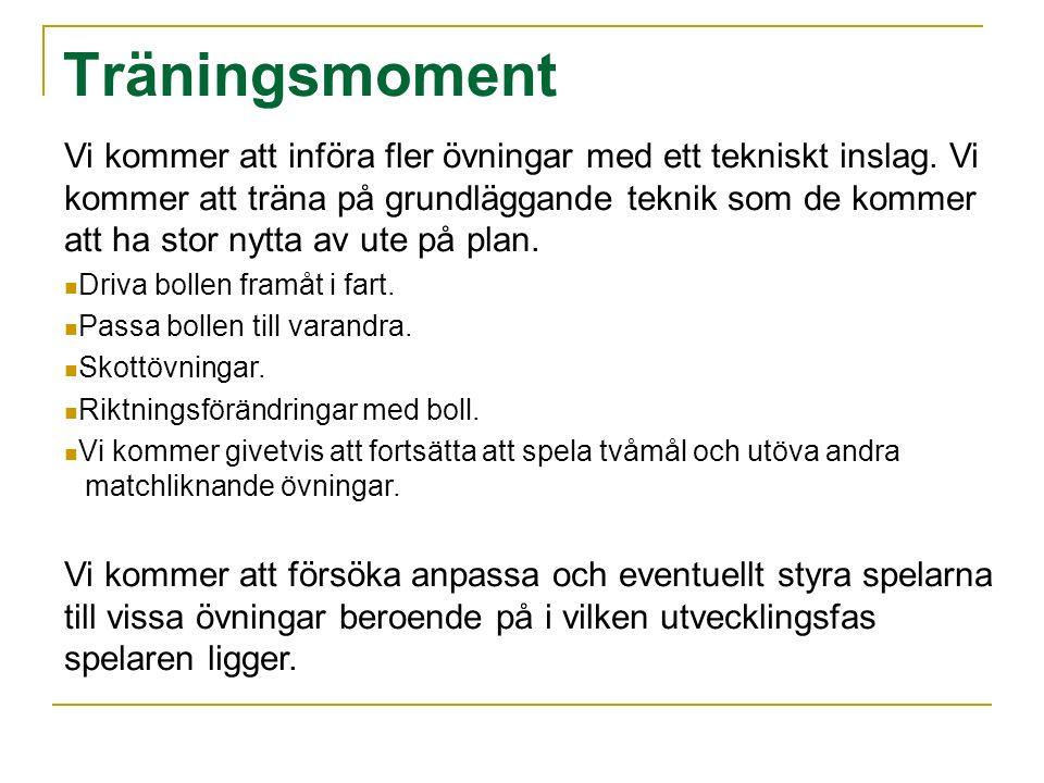 Planering hösten/vintern 2009 Träning varje söndag på Norrby IP Tid:1600-1700 Match Lyckeby varje måndag med start 24 Augusti till 12 Oktober.