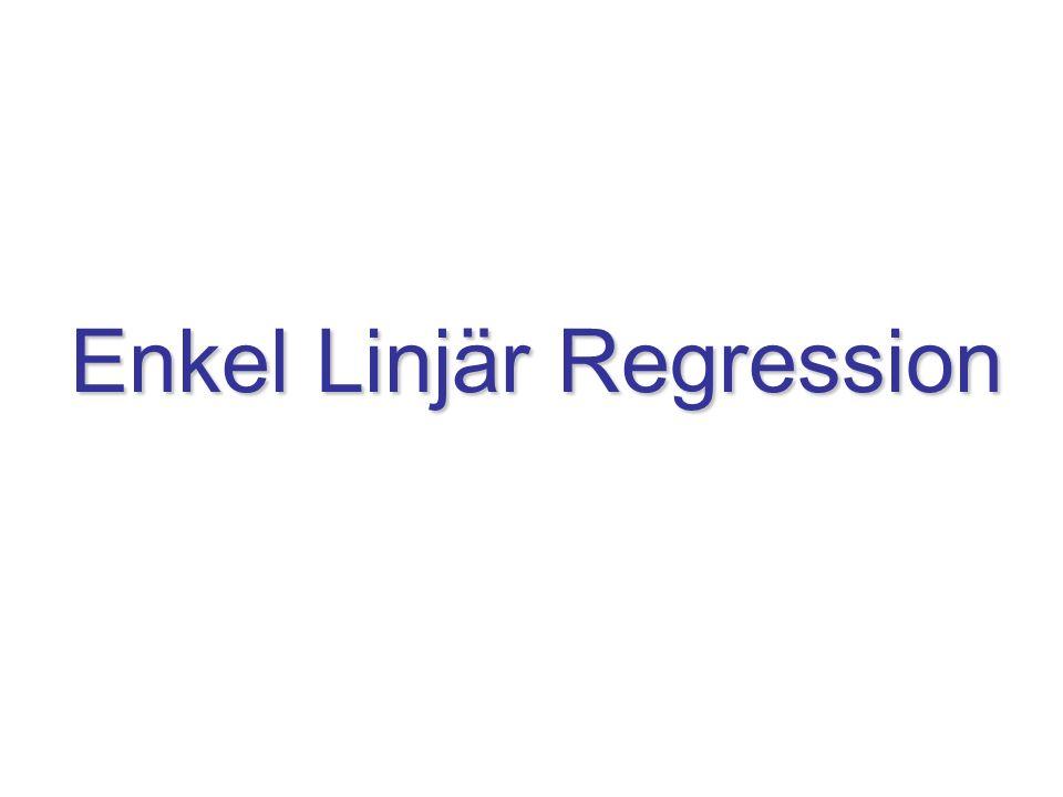 Enkel Linjär Regression