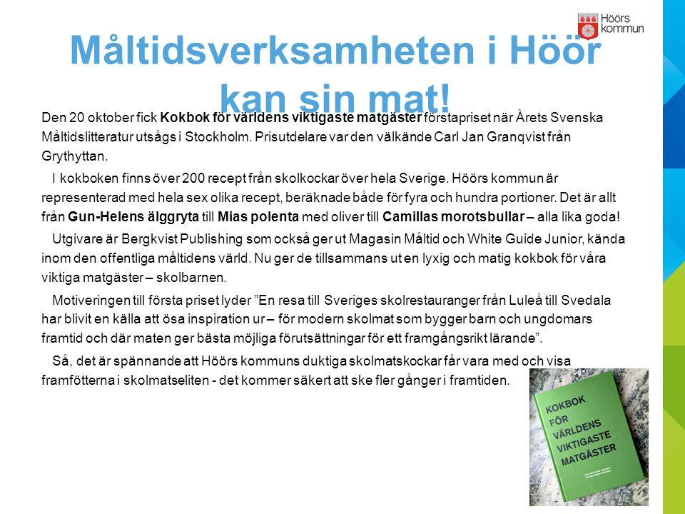 Den 20 oktober fick Kokbok för världens viktigaste matgäster förstapriset när Årets Svenska Måltidslitteratur utsågs i Stockholm.