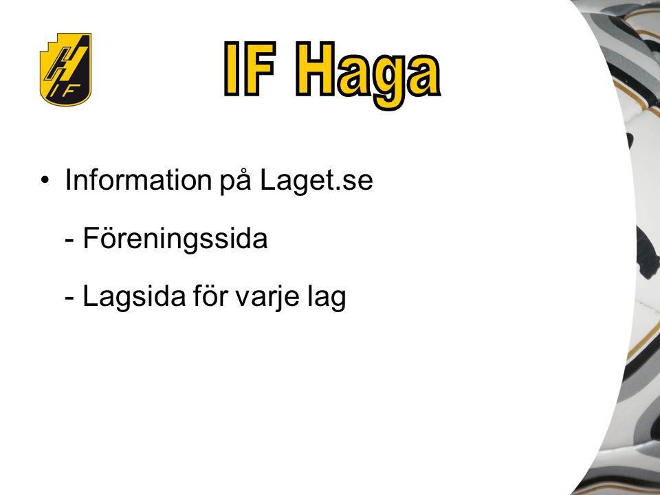 Information på Laget.se - Föreningssida - Lagsida för varje lag