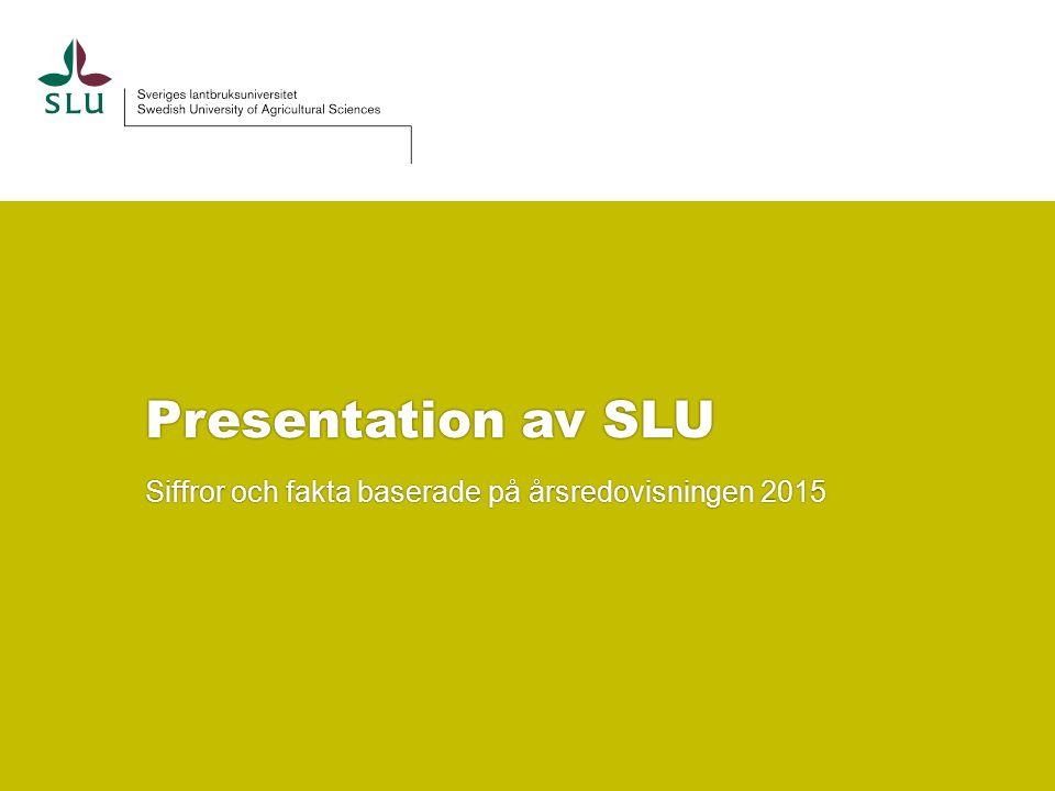 Presentation av SLU Siffror och fakta baserade på årsredovisningen 2015