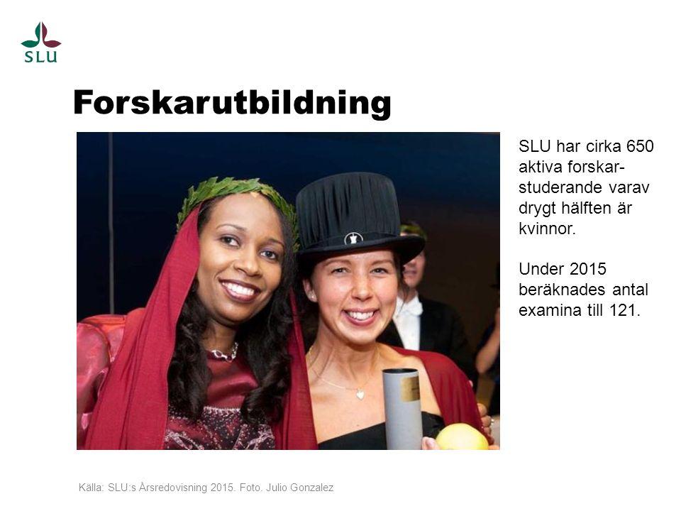 Forskarutbildning Källa: SLU:s Årsredovisning 2015.
