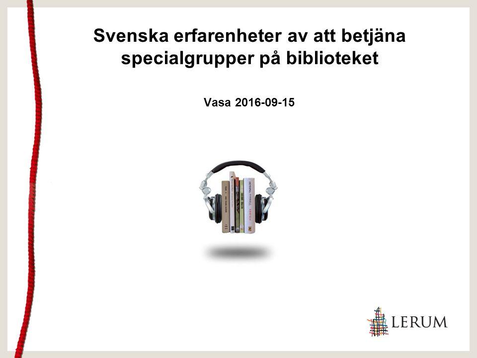 Presentation av mig Bibliotekarie folkbibliotek Medlem i IFLA:s LSN Tidigare regional konsulent