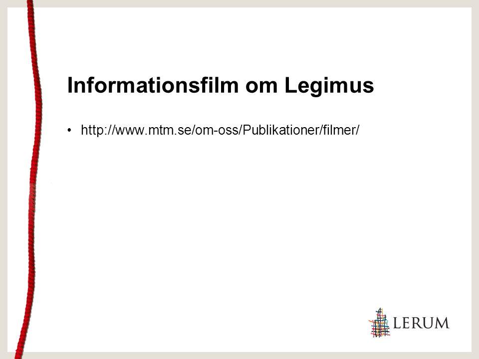 Egen nedladdning Legimus Låntagaren behöver: Komma till biblioteket Registreras MTM Information Under 18 år medgivande målsman