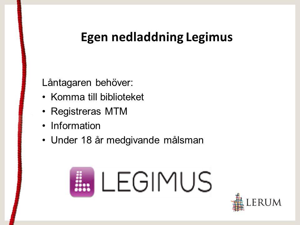 Informationsfilm om webbläsaren http://www.legimus.se/webbspelare