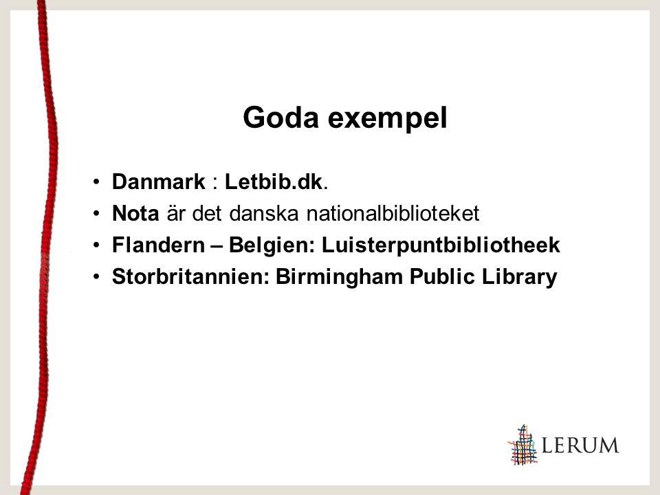 Bilaga B: Kunskapsdatabas En lista med pålitliga och objektiva källor; en liten kunskapsdatabas som bibliotekspersonal kan konsultera.