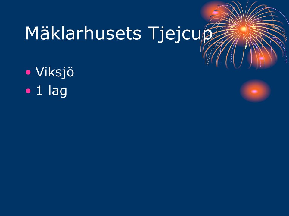 Mäklarhusets Tjejcup Viksjö 1 lag